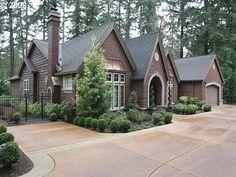 single story home high roof line