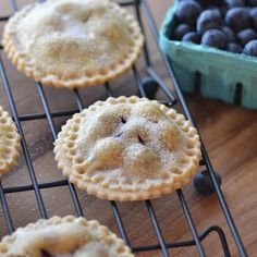 Blueberry Pie Cookies. Perfect little bites of blueberry pie!