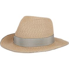 Eugenia Kim Women's Lillian Flexible-Brim Straw Fedora (430 CAD) ❤ liked on Polyvore featuring accessories, hats, nude, brim straw hat, straw hat, eugenia kim, eugenia kim hat and brimmed hat
