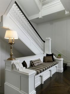 should we design our stairs to incorporate space for the couch?