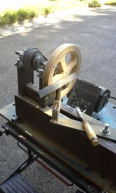 "Wood Lathe by EclecticNeophyte -- ""The machine to be described is not put forward as an 'ideal' lathe, but as an example of of a plain lathe of simple and straightforward construction to which additions can be made as time, fancy, or necessity dictates."" - G.B. Round, MODEL ENGINEER; circa 1959 Here's my latest in a short string of power tools...I just finished it today.  I've always wanted a small wood lathe, but just never seemed to get a handle on either the dollars, or a design I was..."
