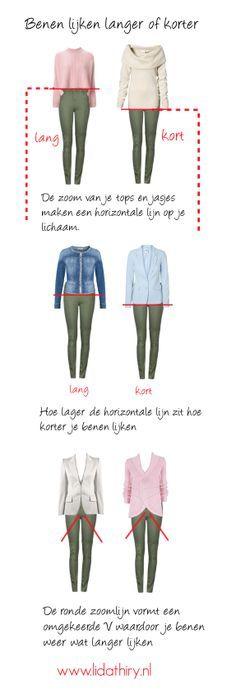 Draag jij je tops zo lang mogelijk om je buikje of je billen te verbergen? Weet je dat je er dan juist de aandacht op vestigt? De zoom van je tops en jasjes geeft een horizontale lijn op je lichaam. …