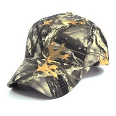 6057292cf53 Mens Army Camo Baseball Cap Outdoor Camouflage Hunting Fishing Hat Cotton  Poly Adjustable Sun Hat Real
