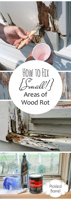 How to Fix {Small!} Areas of Wood Rot| Wood Rot, How to Fix Wood Rot, Home Improvement, Home Improvement Projects, Easy Home Improvement, Simple Home Improvement Projects, Repair Wood Rot #WoodRot #HomeRepair #DIYHomeRepairs