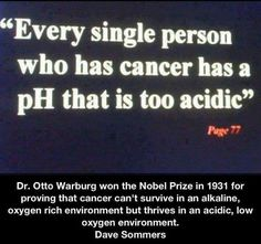 """*Cancer can be controlled and reversed by controlling your pH* """"If you're interested in learning more about the suppressed cancer treatments you may want to check out this video: http://www.naturalcuresnotmedicine.com/2013/04/cancer-forbidden-cures-full-documentary.html """""""