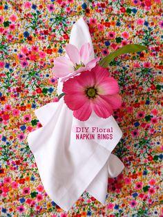DIY Floral Napkin Rings... link for the How-to: http://www.freutcake.com/art-design/diy-art-design/diy-floral-napkin-rings/