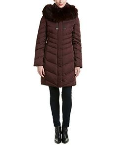 """Warm and wonderful: plush Asiatic raccoon fur adds an especially chic finish to Elie Tahari's down-filled coat.       Famous Words of Inspiration...""""Fortune and love favor the brave.""""   Ovid — Click here for more from...  More details at https://jackets-lovers.bestselleroutlets.com/ladies-coats-jackets-vests/quilted-lightweight-jackets/product-review-for-elie-tahari-asiatic-raccoon-fur-trim-jamie-chevron-down-puffe"""