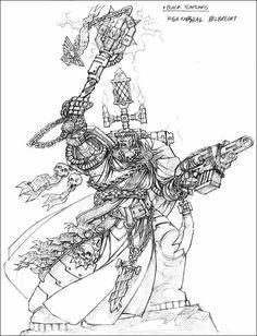 Black Templars - high marchal Helbrecht