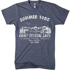 bfddbc0ba5ef Retro Camp T-Shirt   Camp Crystal Lake Grey Friday The 13th Shirt, Camp