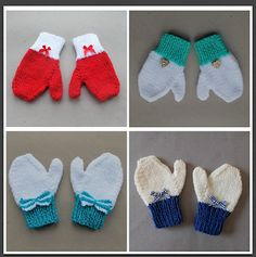 Contrast Cuff Toddler Mittens Age 2 – 3 years Size: Length: Width: all around . Toddler Mittens, Baby Mittens, Fingerless Mittens, Beginner Knitting Patterns, Dishcloth Knitting Patterns, Crochet Patterns, Knitting Ideas, Crochet Ideas, Knitted Mittens Pattern