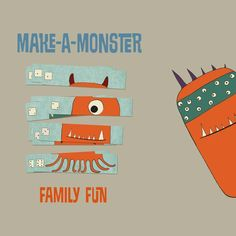 Make scary monsters using this fun printable travel game!
