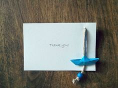 Baby shower thank you card  baby boy  for baptism by Loulalalou, $23.00