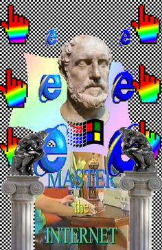 Internet Master Follow http://capersnvapors.tumblr.com/  for more Vaporwave art
