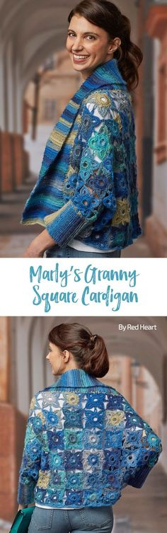 Marly's Granny Square Cardigan free crochet pattern in Unforgettable.