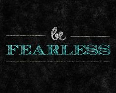 Be Fearless Textual Art on Wrapped Canvas in Black