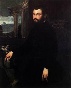 Tintoretto ~ Portret van Jacopo Sansovino ~ Voor 1546 ~ 120 x 100 cm. ~ Galleria degli Uffizi, Florence