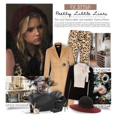 """Pretty Little Liars : Hanna Marin"" by thewondersoffashion ❤ liked on Polyvore featuring Style Stalker, Gucci, Balenciaga, Paule Ka, The Row, Casadei, Eugenia Kim, Clarins and OPI"