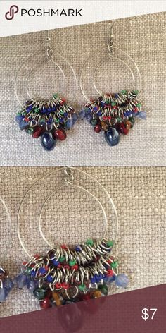 Super Chic Colorful Earrings You will love these super chic earrings. They are very colorful so they will coordinate with any outfit you want to wear them with. You can wear them dressed up or down. They go with any outfit!! Jewelry Earrings