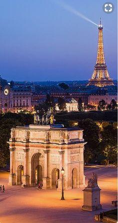 Arc de Triomphe du Carrousel & Tour Eiffel ~ Paris, France ~