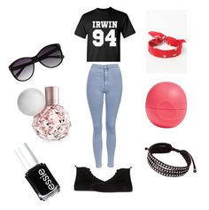 """""""Ash x"""" by musiclover1217 ❤ liked on Polyvore featuring Ann Demeulemeester, Topshop, LA: Hearts, Eos, Vince Camuto, Essie and NOVICA"""