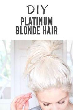 Platinum blonde hair: a diy guide hair светлые волосы, окраш Platinum Blonde Hair Color, White Blonde Hair, Bleach Blonde Hair, Icy Blonde, Blonde Color, Hair Colour, Diy Bleach Hair, Diy Hair Toner, Platnium Blonde Hair