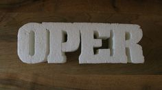 Art-school styrofoam.