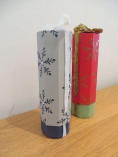 CraftyCarolineCreates: Bottle Gift Box for Homemade Blackberry and Apple Gin, Video Tutorial - Handmade Christmas Idea
