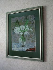 """it has been my experience, when I took my favorite picture of the artist Suren Kamalana """"Snowdrops"""", missed her through the partitioner source images and build on their basis schemes embroidery. it is this Stitch Art Easy! 4.0 Beta 2"""