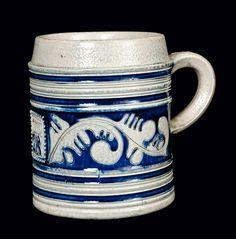 "Westerwald Stoneware ""GR"" Mug, 18th century,"