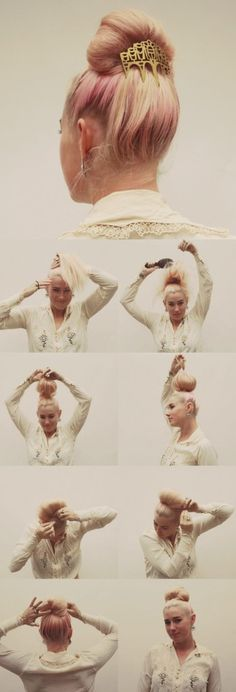 How-To Hair Girl | A Party Bun, for soiree hair in a pinch. #nikkijacoby #shamphree #hair #freeyourhair #DIY #style
