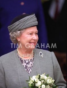 HM Queen Elizabeth II wearing the Cartier Leaf brooch she received from her parents.