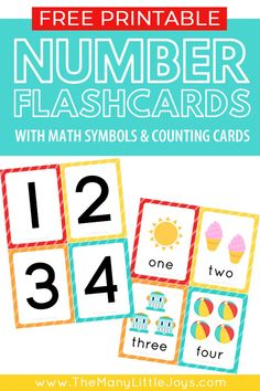 Free Printable Number Flashcards (+ counting cards) - The Many Little Joys