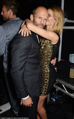 Rosie Huntington-Whiteley and Jason Statham : The good-looking twosome - who are 20 years apart in age - have never been too shy to put on a PDA