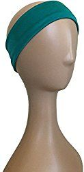 Teal silk jersey stretchy headband - Northwest Scents Natural Black Hair Care Products
