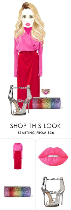 """""""Untitled #6530"""" by mrsmayweather ❤ liked on Polyvore featuring Attico, Lime Crime, Jimmy Choo and Giuseppe Zanotti"""