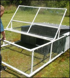 If you want a chicken tractor that's easy to move and one that's low-maintenance, then you can use PVCs to build one! http://diyprojects.ideas2live4.com/2016/05/11/build-a-chicken-tractor-from-pvc/ Unlike chicken tractors made of timber, a PVC chicken tractor is lightweight. You can build a larger PVC chicken tractor and still be able to relocate it without difficulty. It's also rot-free which makes it perfect for places where it rains a lot.
