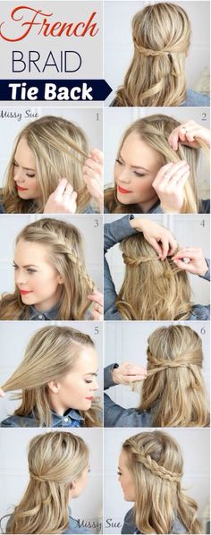 French braid tieback