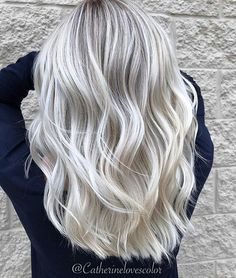 * YAA-USSS! ... by @catherinelovescolor ・・・ Icy Dreams . This was my 3rd session with this beautiful guest we reached our goal after her second session so now we are just maintaining her gorgeous color⚪️. Everyone is different how many sessions it will take to get to Platinum. ⭐️My guest takes extremely good care of her hair at home that makes a big difference to how light and healthy your hair stays #btccatherinelovescolor ❄️ #whitehair #frozenblonde #platinumblonde