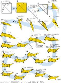 Origami Guide, Origami Easy, Origami Diagrams, Cardboard Design, Origami Animals, Wood Carving Art, Paper Crafts Origami, Origami Design, Art Projects