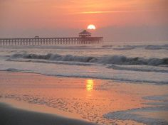 Folly Beach Pier at Dawn,just mins from downtown Charleston. I can't wait to go on vacation. I will so enjoy being here and with you! What a wonderful time we could have together. You could even spend time with Becky, Brooke and the children. Folly Beach Pier, Folly Beach South Carolina, South Carolina Vacation, Charleston South Carolina, Charleston Sc, The Places Youll Go, Places To Visit, Myrtle Beach Sc, Beach Photos