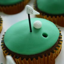 Grooms cake instead of cupcakes? Cupcakes Baby Shower, Golf Cupcakes, Baking Cupcakes, Birthday Cupcakes, Cupcake Cookies, Golf Cookies, 80th Birthday, Hello Kitty Cupcakes, Mademoiselle Cupcake