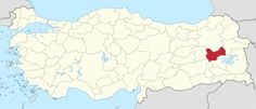Location of Muş Province in Turkey