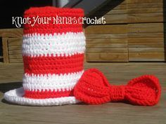 Knot Your Nana's Crochet: Dr. Suess Top Hat with Bow Tie