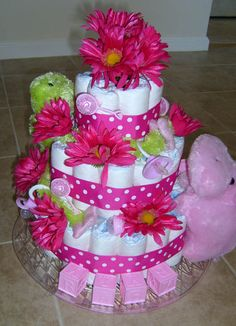 Best Baby Gifts for Girls   ... baby diaper cakes . Diaper Cakes for Boys ツキ Diaper Cakes for