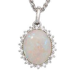 Damen-Anhänger 1 Opal 14 Karat (585) Weißgold 18 Diamant 0.10 ct. Dreambase http://www.amazon.de/dp/B00N5CAMDA/?m=A37R2BYHN7XPNV