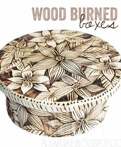 #diy wood burned boxes