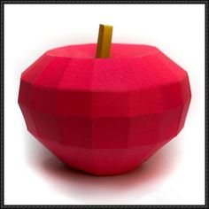 Fruit Papercraft - Red Apple Free Template Download