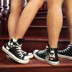 a0750ba2be1468 Converse Shoes Batman Joker Hand Painted Black Canvas Sneaker for Men. Joker  ConverseConverse All StarConverse ...