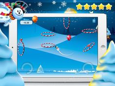 Send your Snowman zipping through those sky hoops, make it through each hoop for that perfect star award in this great little Christmas arcade game.  http://geni.us/FrozenSnowman #christmasfun #snowman #arcade