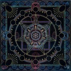 black background mandala inspiration